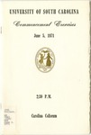 Commencement Program, June 5, 1971