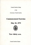 Commencement Program, May 10, 1975