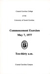 Commencement Program, May 7, 1977