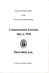 Commencement Program, May 6, 1978