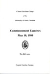 Commencement Program, May 10, 1980