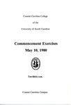 Commencement Program, May 10, 1980 by USC Coastal Carolina College and Coastal Carolina University