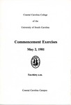 Commencement Program, May 2, 1981