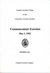 Commencement Program, May 1, 1982