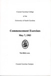 Commencement Program, May 7, 1983