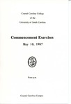 Commencement Program, May 10, 1987