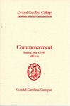 Commencement Program, May 3, 1992