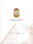 Fall Commencement Program, December 11, 1999 by Coastal Carolina University