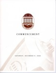 Fall Commencement Program, December 9, 2000