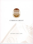 Spring Commencement Program, May 5, 2001