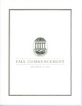 Fall Commencement Program, December 10, 2005