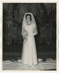 A bride in her wedding gown by Lonnie W. Fleming Sr.