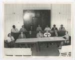 13 men and 1 woman sitting in Conway City Hall Courtroom by Lonnie W. Fleming Sr.