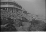 Beach in front of pavilion after Hurricane Hazel by Thomas B. Cooper
