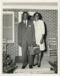 Mr. and Mrs. Glennie Spain on the front porch by Horry County Historical Society