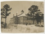 Burroughs School covered in snow. by Horry County Historical Society