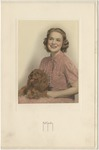 Rebecca Bryan with her brown dog by Horry County Historical Society