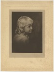 Portrait of a blonde headed little girl turned to her left by Horry County Historical Society