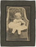Virginia Burroughs as a child in a white dress by Horry County Historical Society