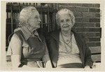 Florence Epps and Helen Hide on a bench by Horry County Historical Society