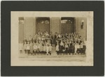 Students in front of Burroughs School Building by Horry County Historical Society