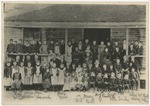 Old Conway Academy with identifications by Horry County Historical Society