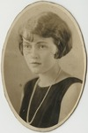 Woman in black sleeveless shirt with white pearls by Horry County Historical Society