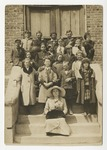 Class picture taken on the side of Burroughs School by Horry County Historical Society