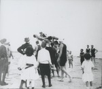 Boys in swimsuits on beach by Horry County Historical Society