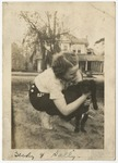 Rebecca Bryan and her dog Sally by Horry County Historical Society