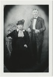 Woman in black dress clothes and black hat by Horry County Historical Society