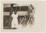 African American lady in white dress by Horry County Historical Society