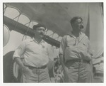 James Sawdens (left) aboard sailing ship in West Indies - 1940 by Horry County Historical Society