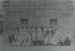 1905 or 1910 Greenwood School with students in front. by Horry County Historical Society