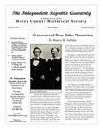 Independent Republic Quarterly, 2013, Vol. 47, No. 3-4 by Horry County Historical Society