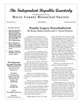 Independent Republic Quarterly, 2014, Vol. 48, No. 1-2 by Horry County Historical Society