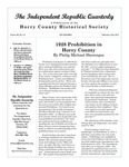 Independent Republic Quarterly, 2014, Vol. 48, No. 3-4 by Horry County Historical Society