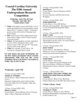 2013 Undergraduate Research Competition Program by Coastal Carolina University