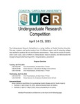 2015 Undergraduate Research Competition Program