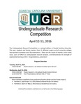 2016 Undergraduate Research Competition Program by Coastal Carolina University